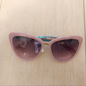 Kate Spade Cissy Cat Eye Pink Gold Sunglasses